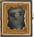 Photography:Ambrotypes, Sixteenth Plate Ambrotype of Cigar-Smoking Youth....