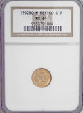 Mexico, Mexico: Republic gold Peso 1902-Mo M Small Date,...