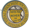 Political:Pinback Buttons (1896-present), Woman's Suffrage: Nevada Equal Franchise Society Button....