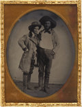 Photography:Tintypes, Quarter Plate Tintype of Two Western Gentlemen....