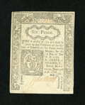 Colonial Notes:Connecticut, Connecticut June 19, 1776 6d Choice New....
