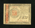 Colonial Notes:Continental Congress Issues, Continental Currency January 14, 1779 $60 Extremely Fine-AboutNew....