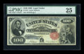 Large Size:Legal Tender Notes, Fr. 181 $100 1880 Legal Tender PMG Very Fine 25....