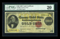 Large Size:Gold Certificates, Fr. 1208 $100 1882 Gold Certificate PMG Very Fine 20....