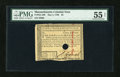 Colonial Notes:Massachusetts, Massachusetts May 5, 1780 $3 Hole Cancel PMG About Uncirculated 55Net....