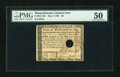 Colonial Notes:Massachusetts, Massachusetts May 5, 1780 Hole Cancel $8 PMG About Uncirculated50....