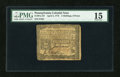 Colonial Notes:Pennsylvania, Pennsylvania April 3, 1772 2s/6d Signed by Adam Hubley PMG ChoiceFine 15....