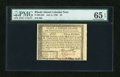 Colonial Notes:Rhode Island, Rhode Island July 2, 1780 $3 PMG Gem Uncirculated 65 EPQ....