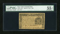 Colonial Notes:New York, New York March 5, 1776 $2/3 PMG About Uncirculated 55 EPQ....