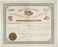 Western Expansion:Cowboy, Pacific Coast Live-Stock Owner's Mutual Protective Association,Certificate of Membership, 1890....