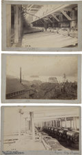 Photography:Cabinet Photos, Alaska-Treadwell Gold Mining Company, Three Imperial Cabinet Cards,1886-1887,...