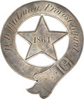 Military & Patriotic:Civil War, Scarce Silver Civil War Provost Guard Badge with Intriguing ID....
