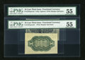 Fractional Currency:Third Issue, Fr. 1255SP 10c Third Issue Wide Margin Pair PMG About Uncirculated 55.... (Total: 2 notes)