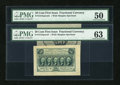 Fractional Currency:First Issue, Fr. 1313SP 50c First Issue Wide Margin Pair PMG Choice Uncirculated63 and About Uncirculated 50.... (Total: 2 notes)