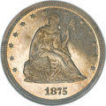Patterns, 1875 20C Twenty Cents, Judd-1407, Pollock 1550, Low R.6, PR66 CameoNGC....