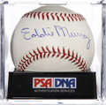 Autographs:Baseballs, Eddie Murray Signed Baseball PSA Mint 9....