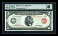 Fr. 833a $5 1914 Red Seal Federal Reserve Note PMG Very Fine 30