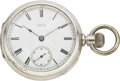 Timepieces:Pocket (pre 1900) , Waltham Wm Ellery Coin Silver Case, circa 1879. ...