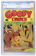 Golden Age (1938-1955):Funny Animal, Goofy Comics #1 Carson City pedigree (Nedor Publications, 1943) CGCNM- 9.2 White pages....