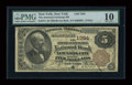 National Bank Notes:New York, New York, NY - $5 1882 Brown Back Fr. 471 The American Exchange NB Ch. # 1394. ...
