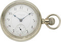 Timepieces:Pocket (post 1900), Elgin Pocket Watch with Village Scene, circa 1889. ...