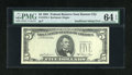 Fr. 1976-J $5 1981 Federal Reserve Note. PMG Choice Uncirculated 64 EPQ