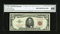 Small Size:Legal Tender Notes, Fr. 1536* $5 1963 Legal Tender Note. CGA Gem Uncirculated 66.. ...