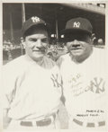"Autographs:Photos, 1942 Babe Ruth Signed Photograph to ""The Pride of the Yankees""Castmate...."