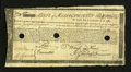 Colonial Notes:Massachusetts, Massachusetts Commodity Bond January 1, 1780 Fine, HOC....