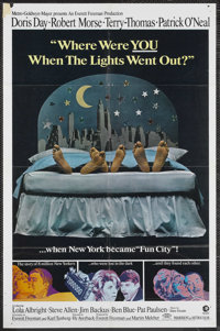 "Where Were You When the Lights Went Out? (MGM, 1968). One Sheet (27"" X 41"") Style B. Comedy. Starring Doris Da..."