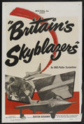 "Movie Posters:Short Subject, RKO Screenliner (RKO, 1950). One Sheet (27"" X 41"") Style A. ""Britain's Skyblazers."" Short Subject. Produced by Burton Benj..."
