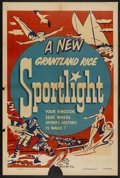 "Movie Posters:Sports, Grantland Rice Sportlight Stock (Paramount, 1950). One Sheet (27"" X 41""). Sports. Starring Grantland Rice...."