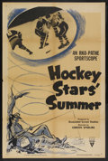"Movie Posters:Sports, RKO Sportscope (RKO, R-1952). One Sheet (27"" X 41"") Style A. ""Hockey Stars' Summer."" Sports. Directed by Gordon Sparling...."