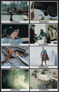 "Movie Posters:Action, Superman: the Movie (Warner Brothers, 1978). Mini Lobby Card Set of8 (8"" X 10""). Action. Starring Christopher Reeve, Gene H... (Total:8)"