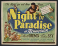 "Movie Posters:Comedy, A Night in Paradise (Universal, 1946). Title Lobby Card (11"" X 14""). Comedy. Starring Merle Oberon, Turhan Bey, Thomas Gomez..."