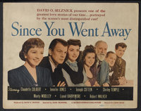"Since You Went Away (United Artists, 1944). Title Lobby Card (11"" X 14""). Drama. Starring Claudette Colbert, J..."