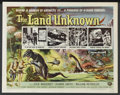 "Movie Posters:Science Fiction, The Land Unknown (Universal, 1957). Half Sheet (22"" X 28"") Style A.Science Fiction. Starring Jock Mahoney, Shawn Smith, Wil..."