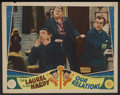 """Movie Posters:Comedy, Our Relations (United Artists, 1936). Lobby Cards (2) (11"""" X 14"""").Comedy. Starring Oliver Hardy, Stan Laurel, Alan Hale, Si...(Total: 2)"""
