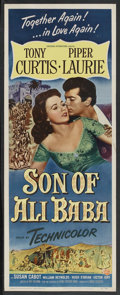 "Movie Posters:Fantasy, Son of Ali Baba (Universal, 1952). Insert (14"" X 36""). Fantasy.Starring Tony Curtis, Piper Laurie, Susan Cabot, William Rey..."