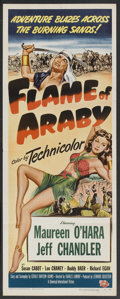 "Movie Posters:Adventure, Flame of Araby (Universal International, 1951). Insert (14"" X 36"").Adventure. Starring Maureen O'Hara, Jeff Chandler, Susan..."