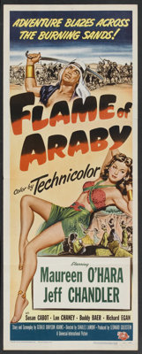 "Flame of Araby (Universal International, 1951). Insert (14"" X 36""). Adventure. Starring Maureen O'Hara, Jeff C..."