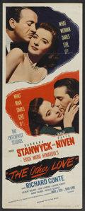 """Movie Posters:Romance, The Other Love (United Artists, 1947). Insert (14"""" X 36""""). Romance. Starring Barbara Stanwyck, David Niven, Richard Conte, G..."""