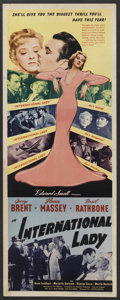 "Movie Posters:Drama, International Lady (United Artists, 1941). Insert (14"" X 36""). Drama. Starring George Brent, Ilona Massey, Basil Rathbone, G..."