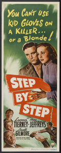 """Movie Posters:Crime, Step by Step (RKO, 1946). Insert (14"""" X 36""""). Crime. StarringLawrence Tierney, Anne Jeffreys, Lowell Gilmore, Jason Robards..."""