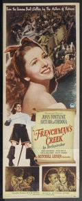 "Movie Posters:Adventure, Frenchman's Creek (Paramount, 1944). Insert (14"" X 36""). Adventure.Starring Joan Fontaine, Arturo deCordova, Basil Rathbone..."
