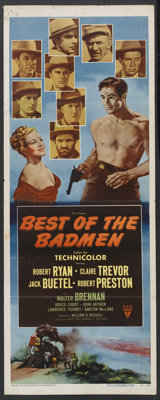 "Best of the Badmen (RKO, 1951). Insert (14"" X 36""). Western. Starring Robert Ryan, Claire Trevor, Jack Buetel..."