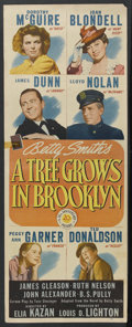 """Movie Posters:Drama, A Tree Grows in Brooklyn (20th Century Fox, 1945). Insert (14"""" X 36""""). Drama. Starring Dorothy McGuire, Joan Blondell, James..."""