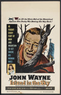 "Movie Posters:Adventure, Island in the Sky (Warner Brothers, 1953). Window Card (14"" X 22"").Adventure. Starring John Wayne, Lloyd Nolan, Walter Abel..."