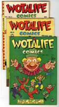 "Golden Age (1938-1955):Funny Animal, Wotalife Comics Group - Davis Crippen (""D"" Copy) pedigree (Fox,1946-47).... (Total: 8)"