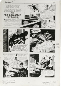 """Frank Springer (attributed) - Flash Gordon #5 Complete 5-page Secret Agent X-9 Story """"The Assassins of Power""""..."""